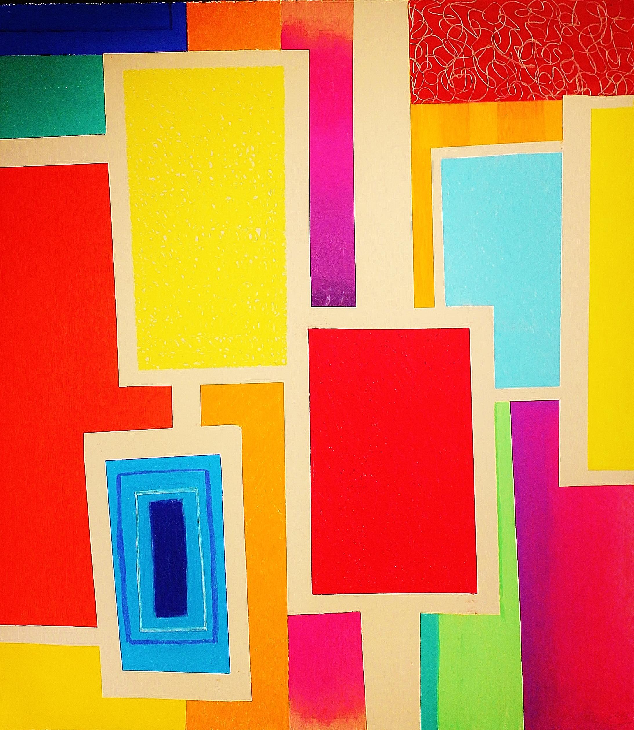 "Cascade, 2015  soft pastel on paper 127cm x 112cm/50""x44"""