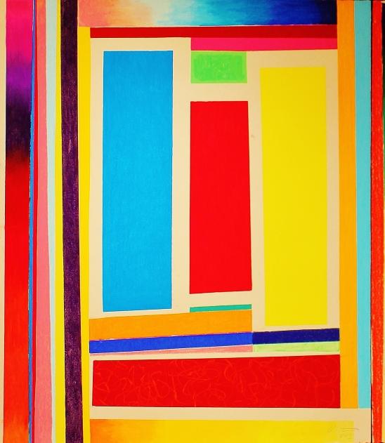 """Liminal Leap   2015 127cm x 112cm/50"""" x 44"""" soft pastel on cotton rag paper"""